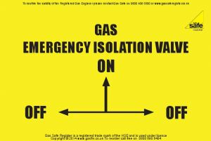 Pack Of Gas Isolation Valve Label